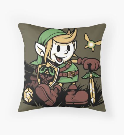 Vintage Link Throw Pillow