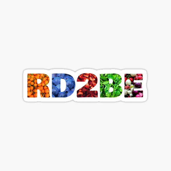 RD2Be Fruits and Veggies Sticker