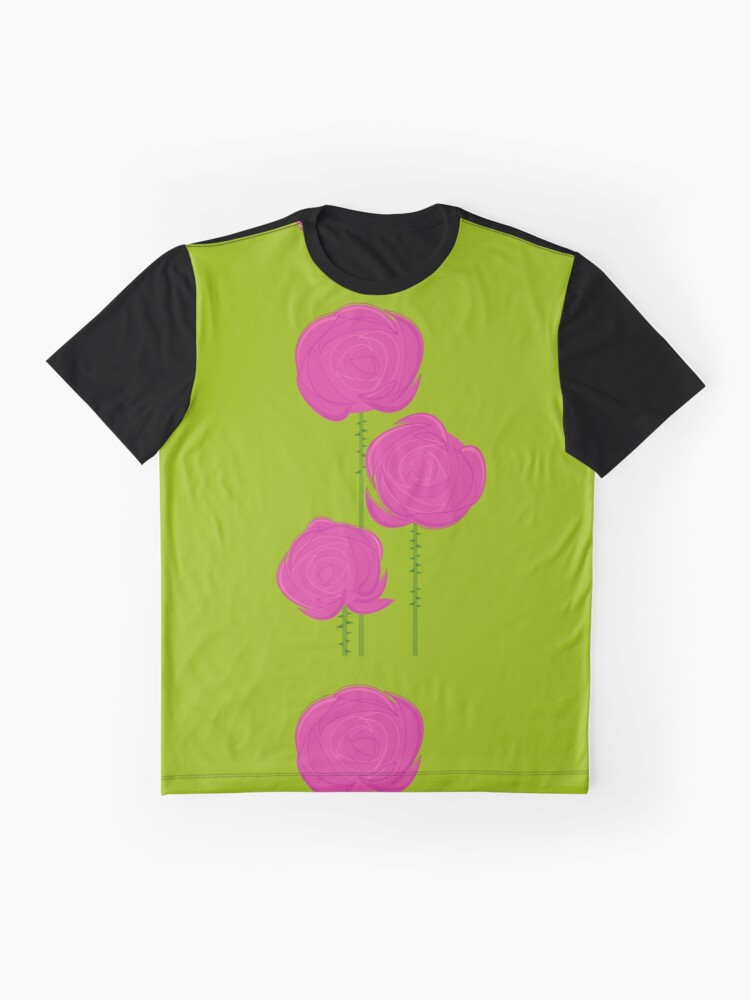 Alternate view of Pink Roses Graphic T-Shirt