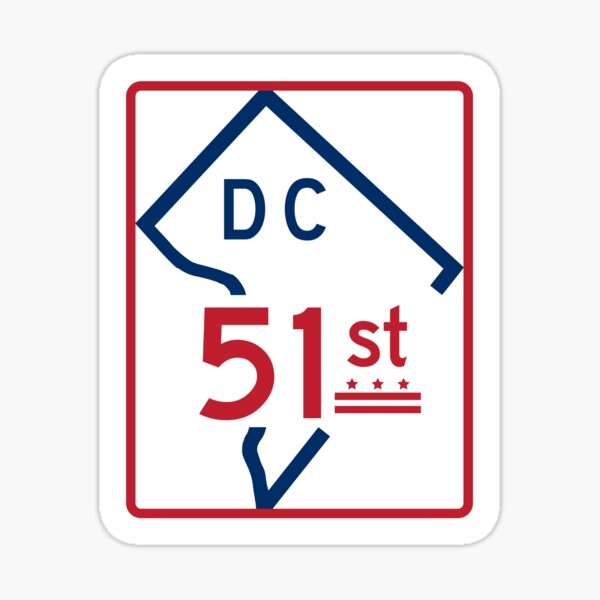 The Road To Statehood - DC 51 (#1) Sticker