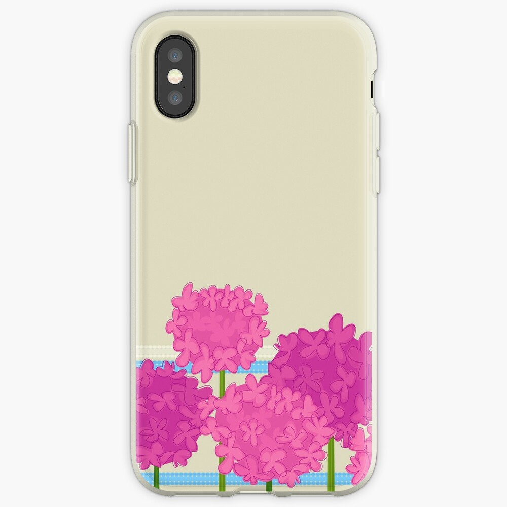 Pink Hydrangeas iPhone Case & Cover