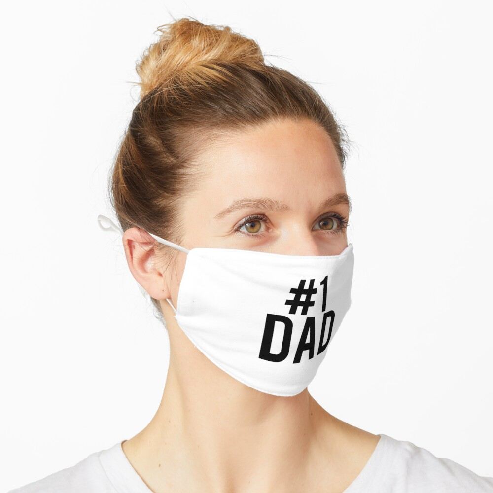 """Father's Day """"#1 Dad"""" Design  Mask"""