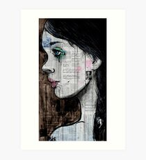 the black tear Art Print