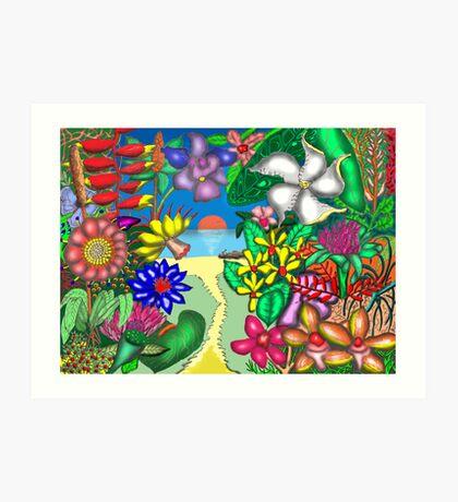 Floradise Art Print
