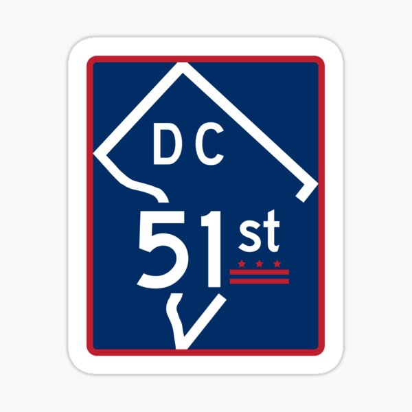 The Road To Statehood - DC 51 (#2) Sticker