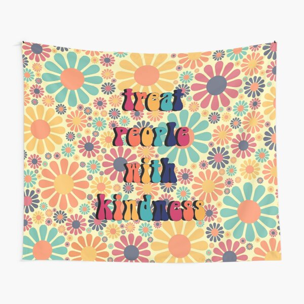 Treat People With Kindness Groovy Tapestry