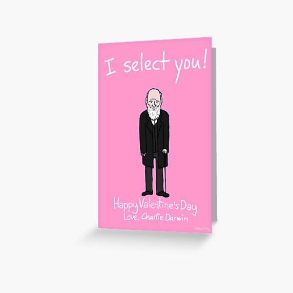 Charles Darwin Greeting Card