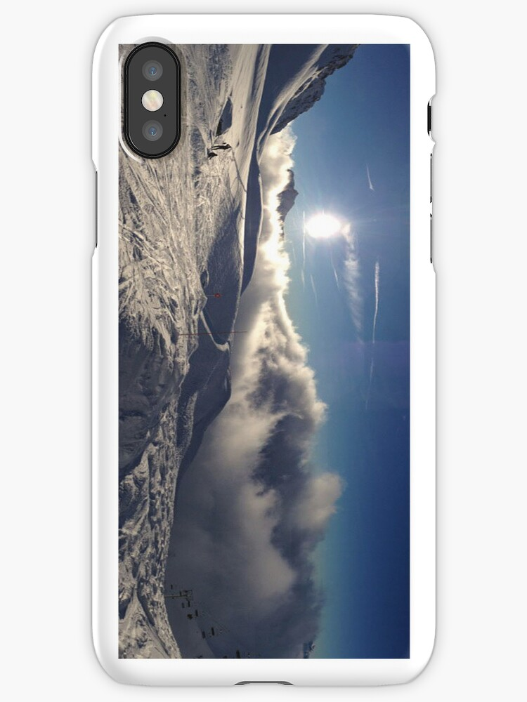 Skiing Iphone case by SwallowStudios
