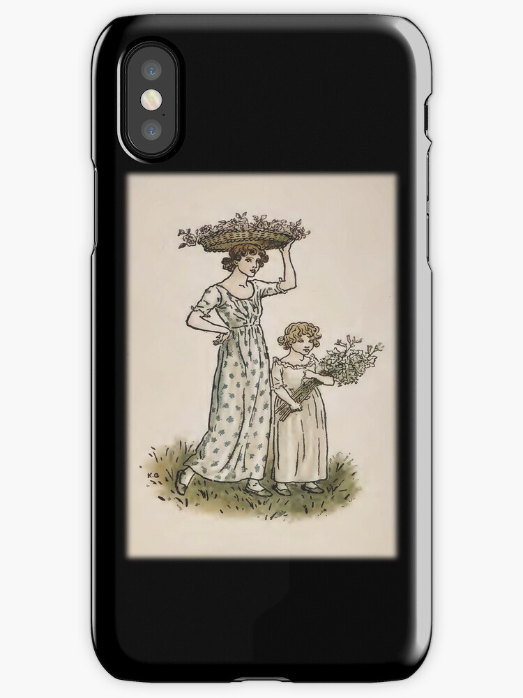 Vintage Collecting BlossomsiPhone Case by Yesteryears