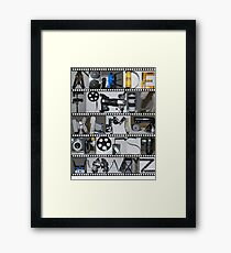 Photography/Film Alphabet Framed Print