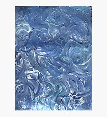 BLUE CLOUDY ABSTRACT Photographic Print