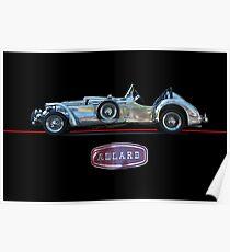 1950 Allard XJ  - 2 Roadster w/Emblem Poster