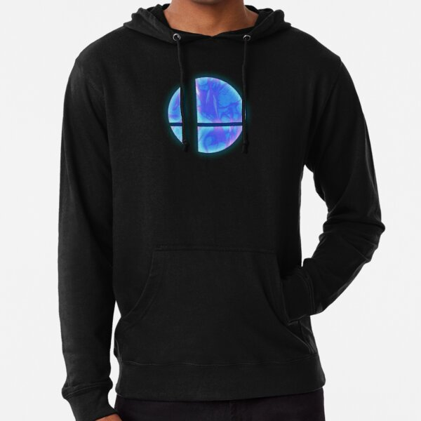 Super smash brothers flaming logo t-shirt Lightweight Hoodie