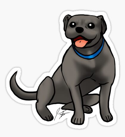 Pitbull - Black Sticker