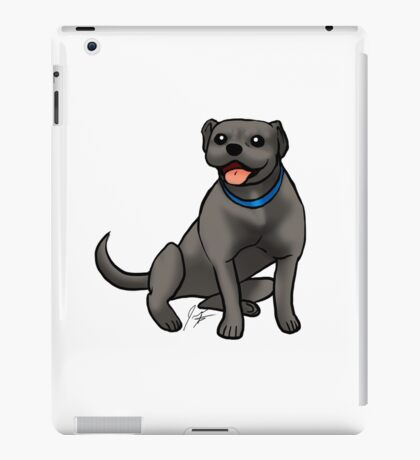 Pitbull - Black iPad Case/Skin