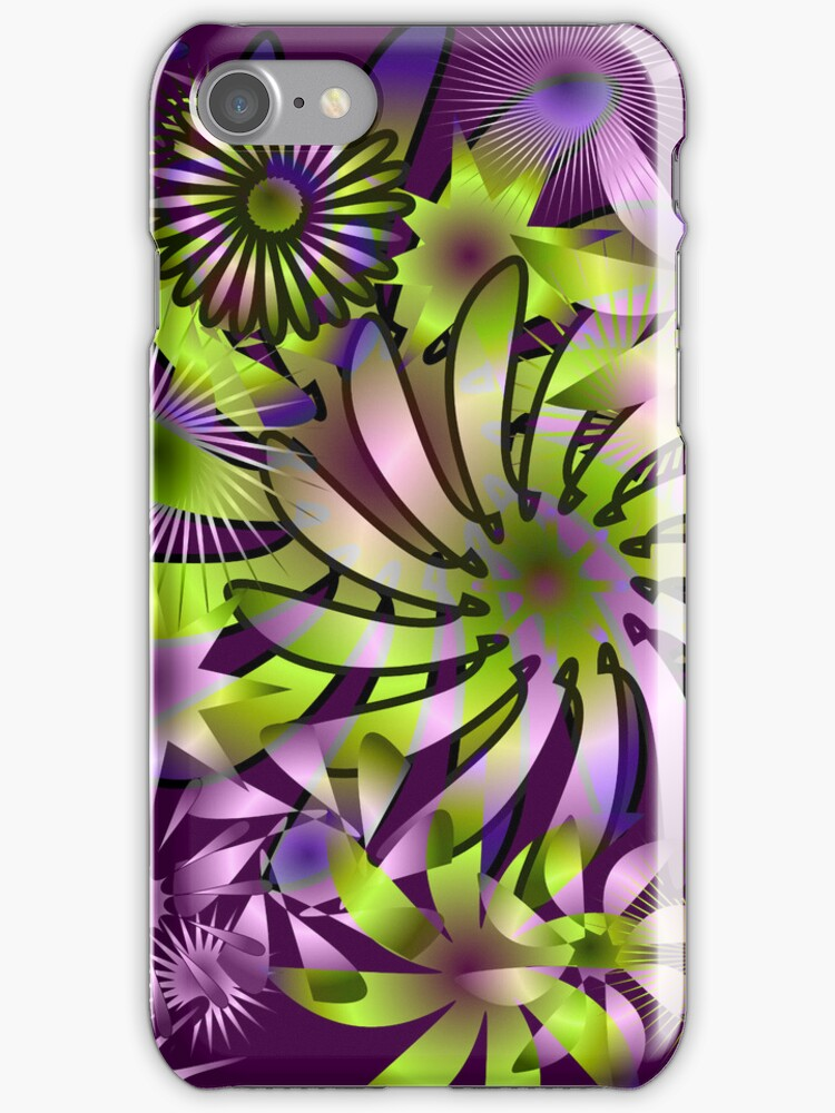 Crazyfleurs (iphone/ipod case) by ScaleDesigns