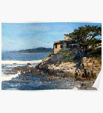 Carmel Bay Beach House Poster