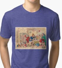 Un Petit souper a la Parisienne by Gillray Tri-blend T-Shirt