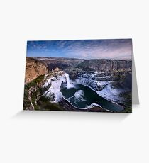 Winter at Palouse Falls Greeting Card