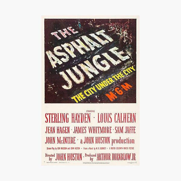 Asphalt Jungle - vintage noir film poster 50s Photographic Print
