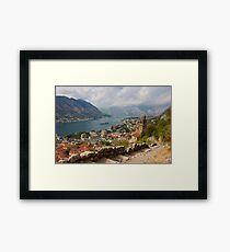 Kotor Panoramic View From the Fortress Framed Print