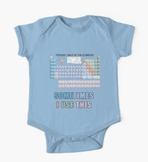 Periodic Table of Elements Kids Clothes