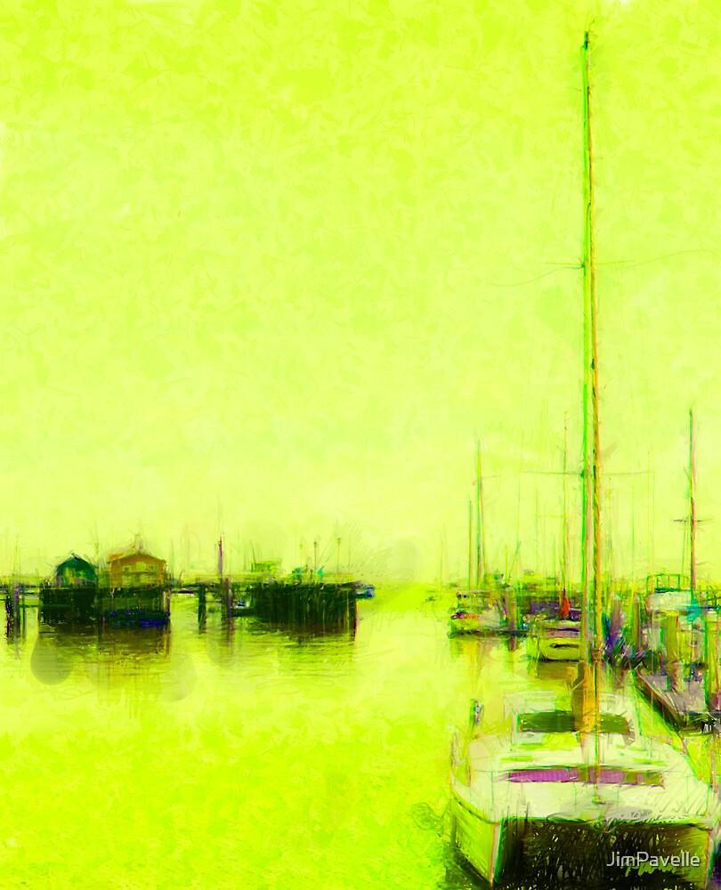 Yellow Mooring - Monterey Boat Harbor, Monterey , CA by JimPavelle