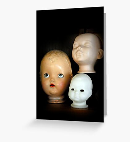 Doll Heads (vertical) Greeting Card