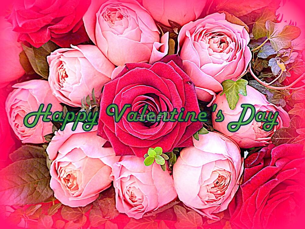 Happy Valentine's Day Roses by ©The Creative  Minds