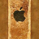 Toast iPhone Case with burnt Apple logo by PixelRider