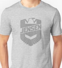 Custom Dredd Badge Shirt - Grey - (Jensen) T-Shirt