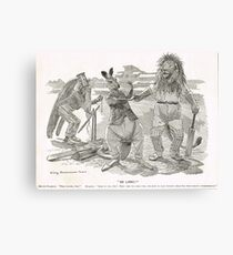 Ashes Cricket Punch cartoon 1899 W G Grace Canvas Print