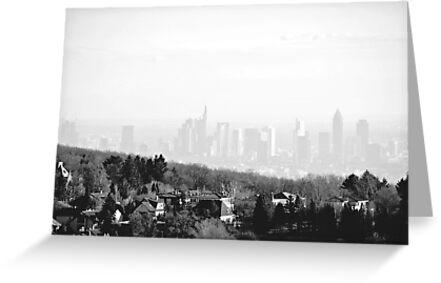 Misty Frankfurt Skyline by heinrich