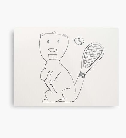 Any Beaver for Tennis?  Metal Print