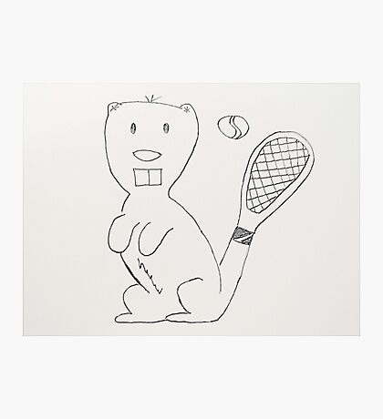 Any Beaver for Tennis?  Photographic Print