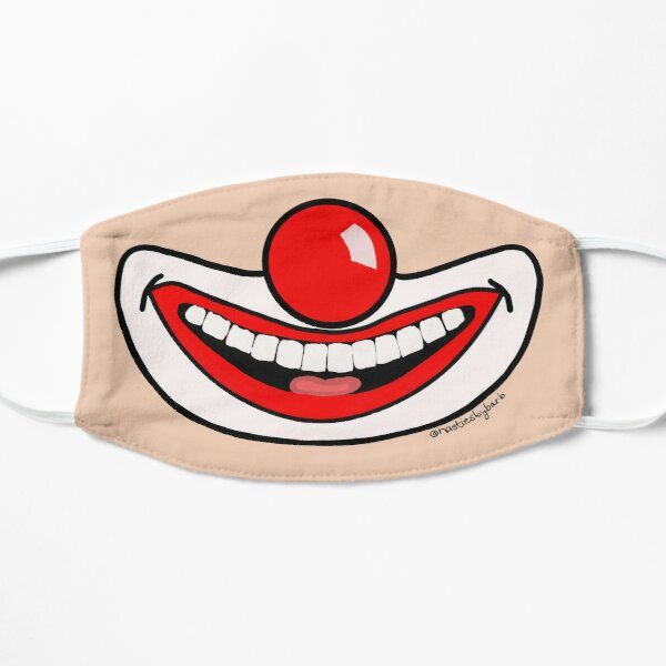 Clowning Around Face Mask Flat Mask