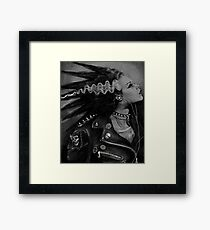 The Punk Rock Bride Framed Print