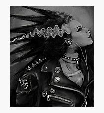 The Punk Rock Bride Photographic Print
