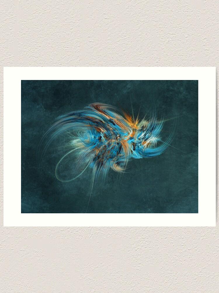 Alternate view of Blue Hornet Fractal Art Art Print
