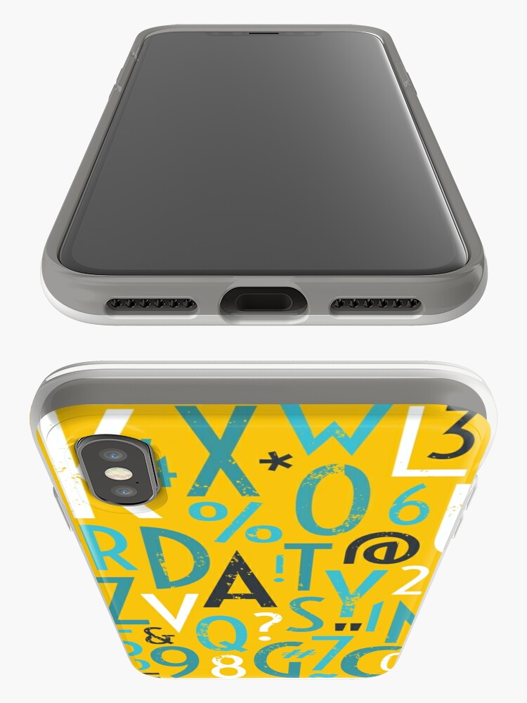 Alternate view of Retro Letters and Numbers iPhone Case & Cover