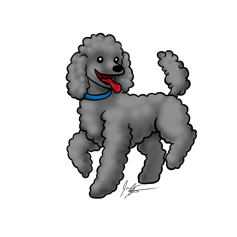Poodle Black by Jennifer Stolzer