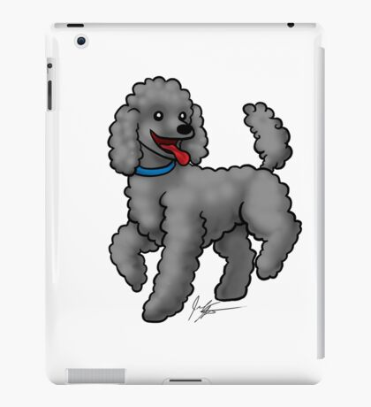 Poodle Black iPad Case/Skin