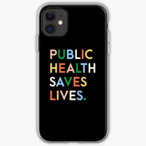 Public Health Saves Lives Modern Print iPhone Soft Case