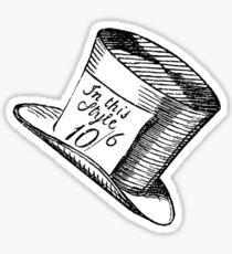 Alice in Wonderland Classic Mad Hatter Hat Sticker