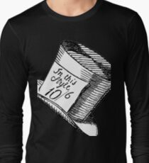 Alice in Wonderland Classic Mad Hatter Hat Long Sleeve T-Shirt