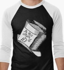 Alice in Wonderland Classic Mad Hatter Hat Men's Baseball ¾ T-Shirt