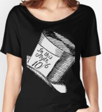 Alice in Wonderland Classic Mad Hatter Hat Women's Relaxed Fit T-Shirt
