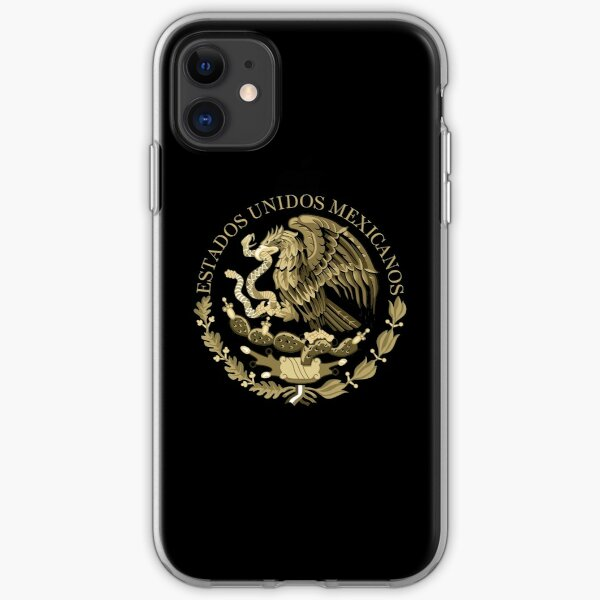 Mexican Flag Seal in sepia tones iPhone Soft Case