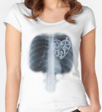 BiKE LOVE X Ray bicycle heart components Women's Fitted Scoop T-Shirt