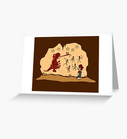 Mario Cave Paint Greeting Card